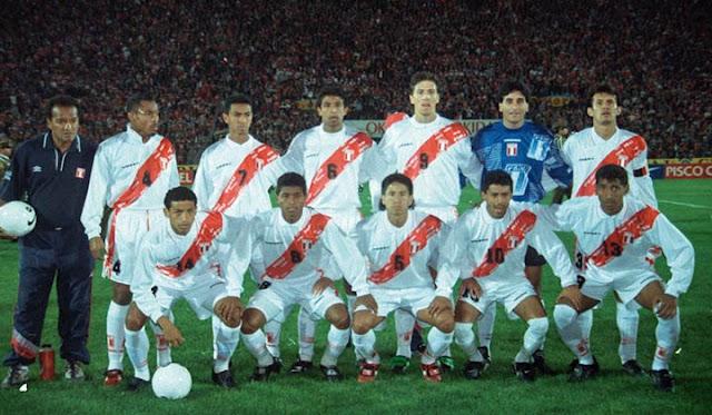 Formación de Perú ante Chile, Clasificatorias Francia 1998, 12 de octubre de 1997