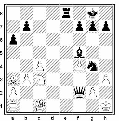Posición de la partida de ajedrez Adrian Gillen - Kalle Kiik (X Campeonato de Europa, Debrecen 1992)