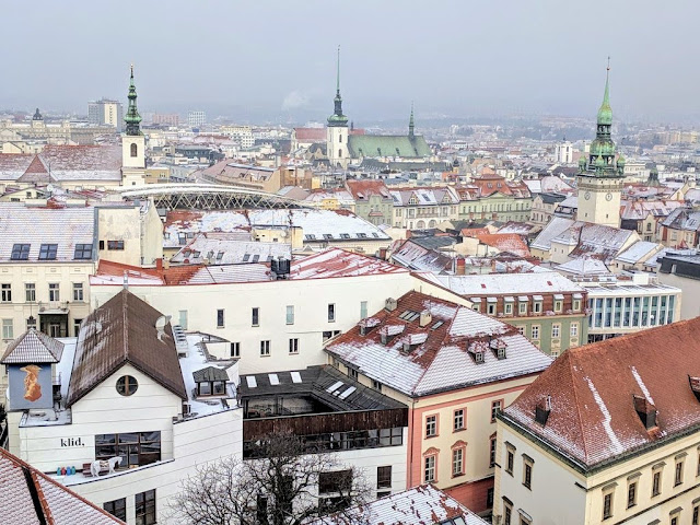 Visit Brno in winter: views from St. Peter and Paul Cathedral