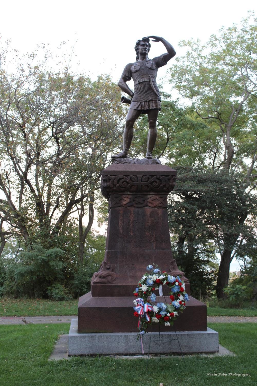 Leif Ericson statue at Milwaukee