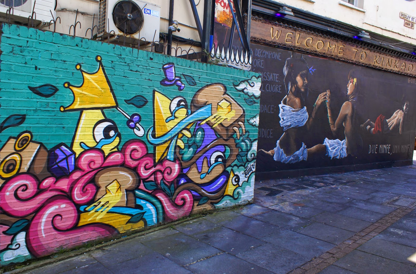 street art brick lane london spitalfields united kingdom uk europe