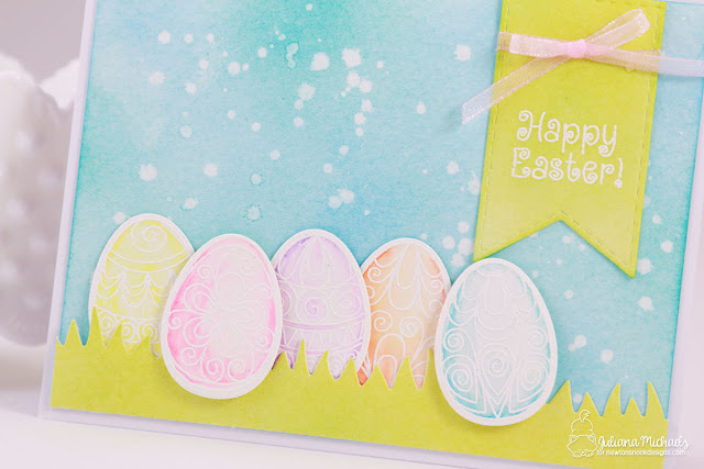 Happy Easter Card by Juliana Michaels featuring Newton's Nook Designs Beautiful Spring Stamp Set