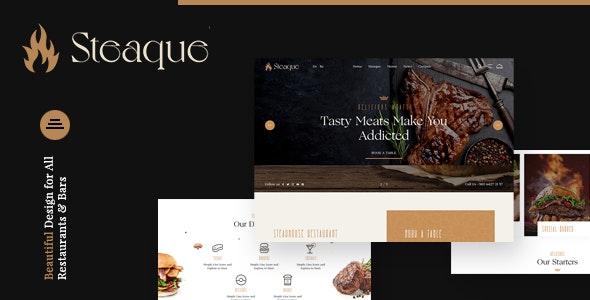 Restaurant and Cocktail Bar Website Theme