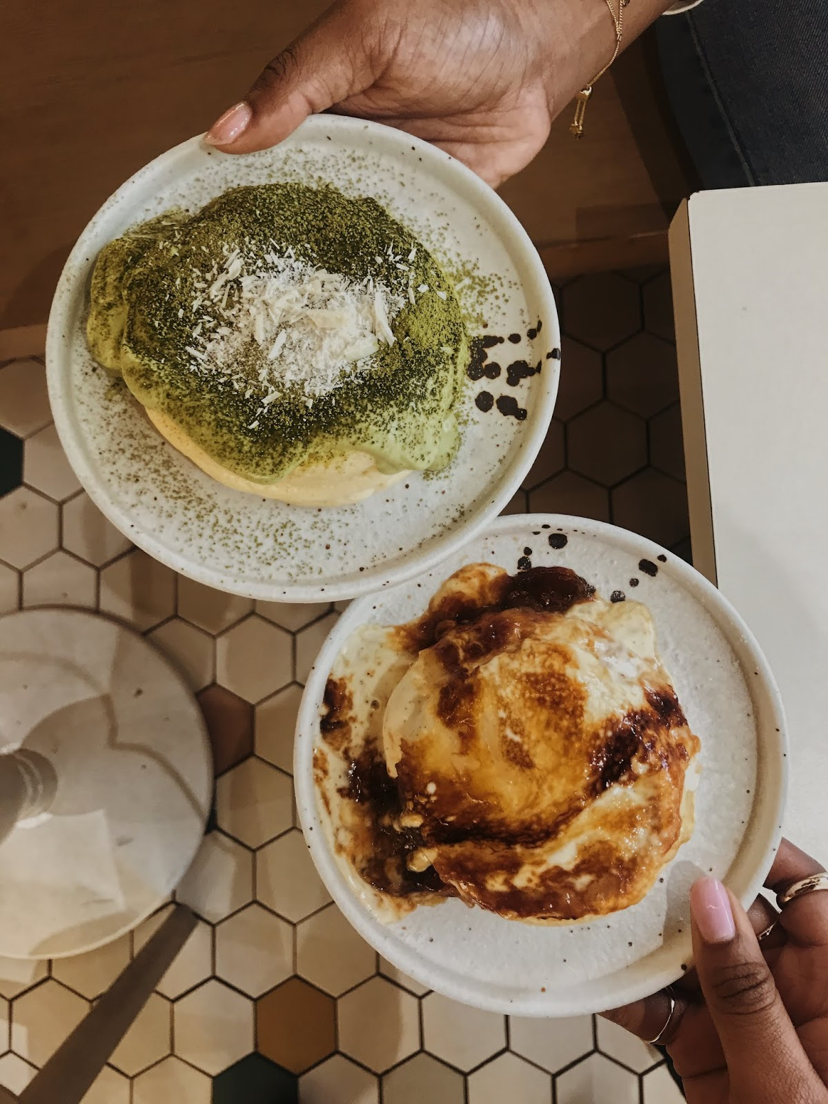 Japanese souffle pancakes from Cha Cha Rolls in London Chinatown