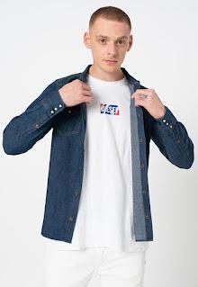 Diesel - Мъжка дънкова Риза с дълги ръкави
