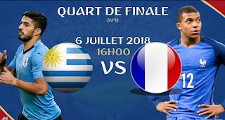 مشاهدة مباراة فرنسا و الاوروغواي مباشر اليوم كورة لايف بدون تقطيع - كأس العالم روسيا 2018