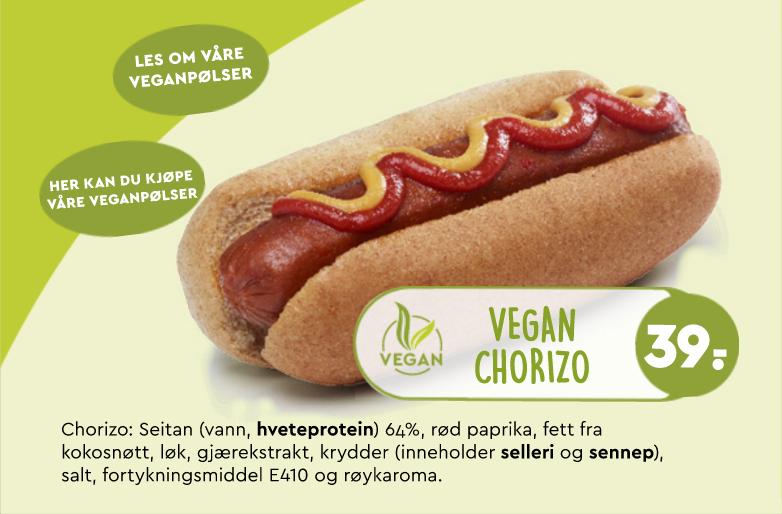 Veganpølser Narvesen Kjøttfrie Pølser Sunt Alternativ Dyrevennlig Miljøvennlig