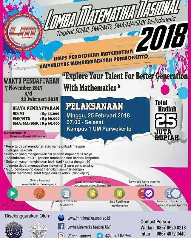 Olimpiade Matematika Nasional 2018 Untuk SD-SMP-SMA Sederajat
