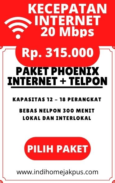 paket indihome jakarta pusat, paket phoenix 20mbps