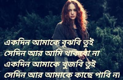 sad bangla shayari photo