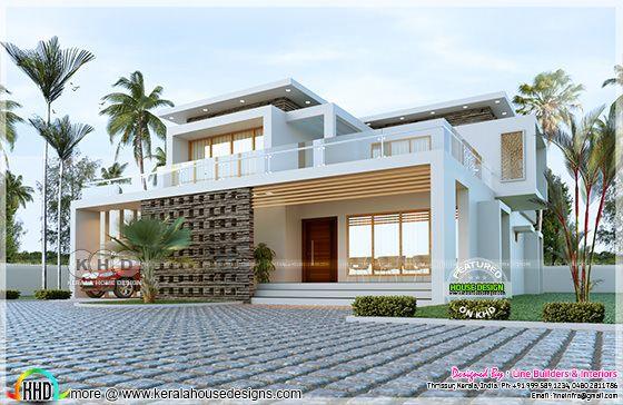 2371 sq-ft box model residence design