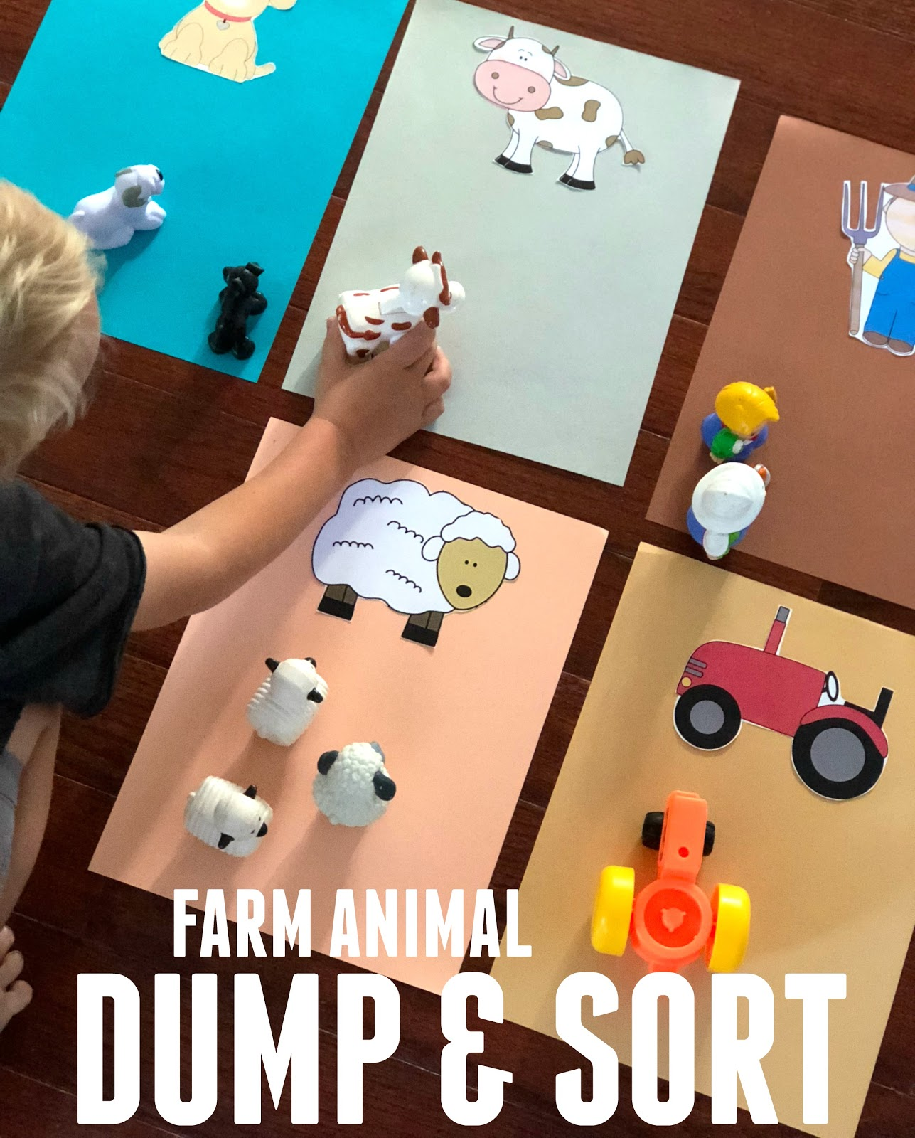 Toddler Approved Easy Farm Animal Dump And Sort For Toddlers