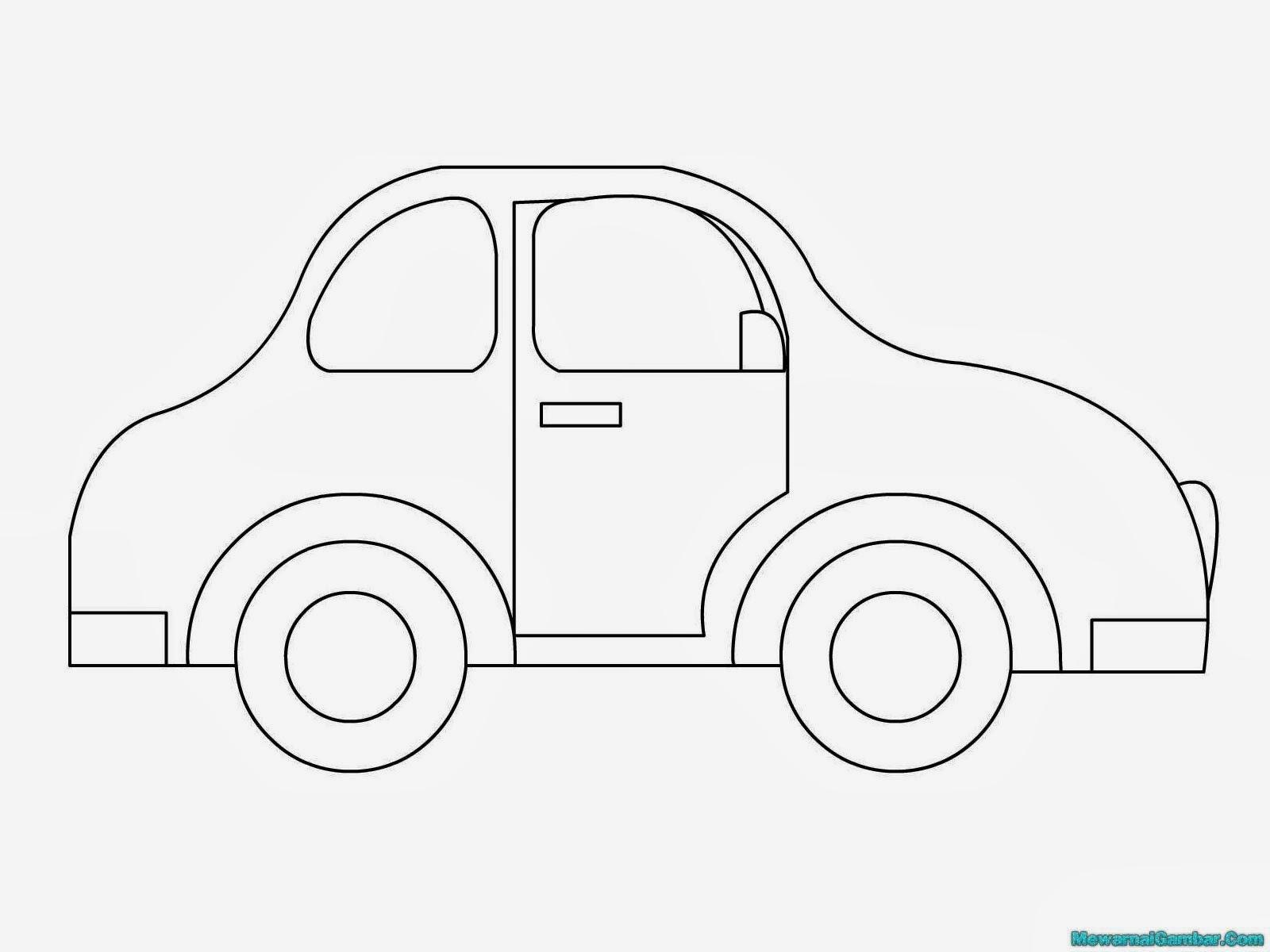 gambar untuk mewarnai mobil