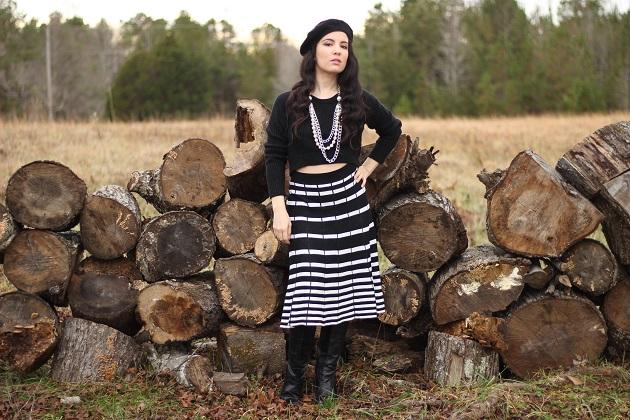 Black and White Sweater Skirt