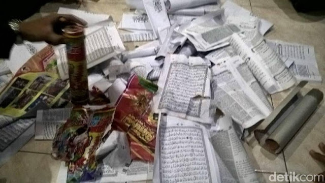 Polisi Sita Kembang Api Berbahan Mushaf Alquran