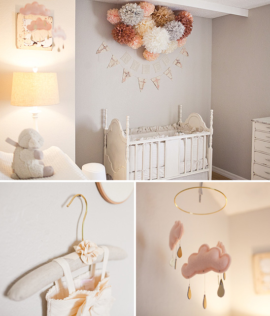 Soft And Elegant Gray And Pink Nursery: Pepper And Buttons: {decor} Soft Peach And Grey Nursery