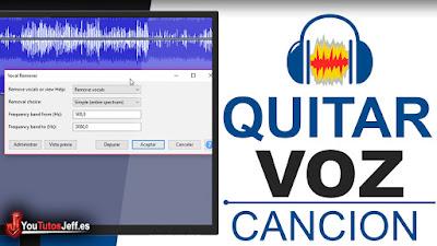 como eliminar voz de cancion con audacity