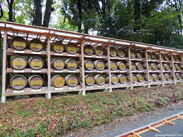 Barriles de Vino en el Santuario Meiji, Tokio