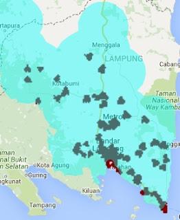 Jangkauan Sinyal Smartfren 4G LTE dan EVDO REV B Lampung