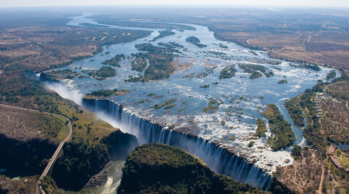 Air terjun paling lebar dan besar di dunia air terjun Victoria