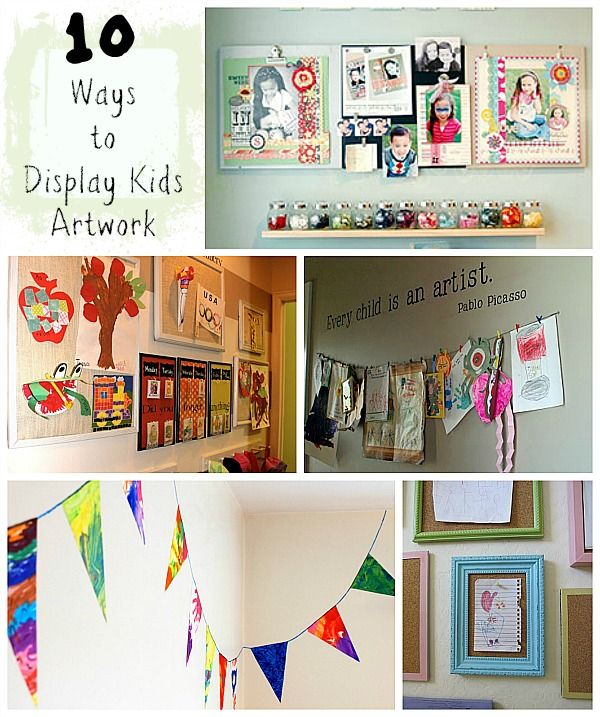 10 Ways to Display Kids Artwork