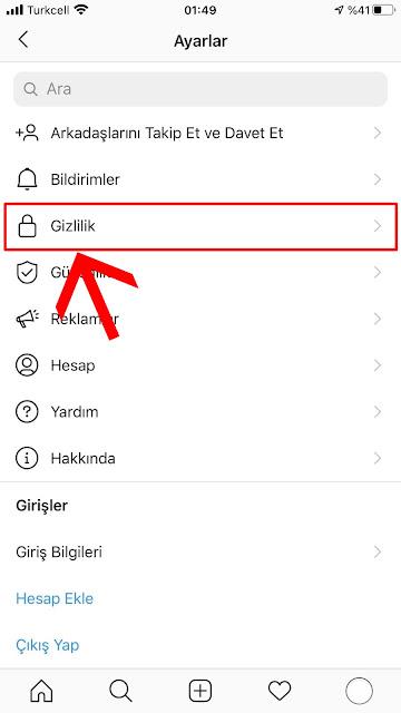 Instagram Hesap Gizleme Android