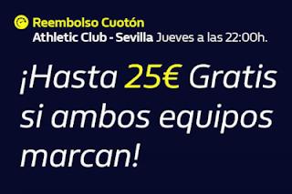william hill Reembolso Cuotón Athletic vs Sevilla 9-7-2020
