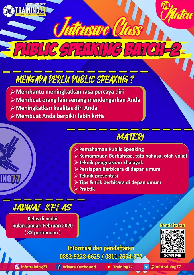 PUBLIC SPEAKING CLASS # 2 IN KLATEN