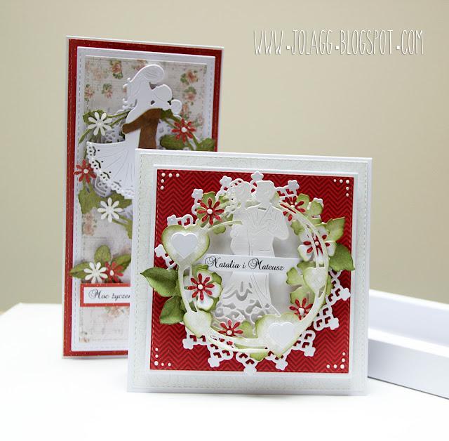 Kartki ślubne w pudełku