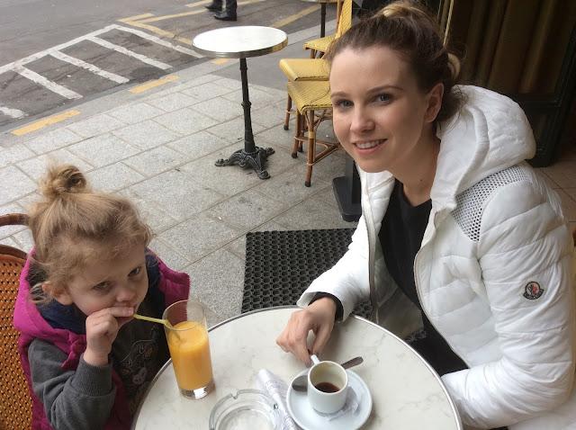 having a coffee in paris