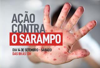 Sábado é dia de combate ao sarampo