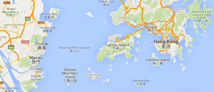 Macau On World Map.Observe The World Hong Kong Airport To Macau Taipa Direct Ferry
