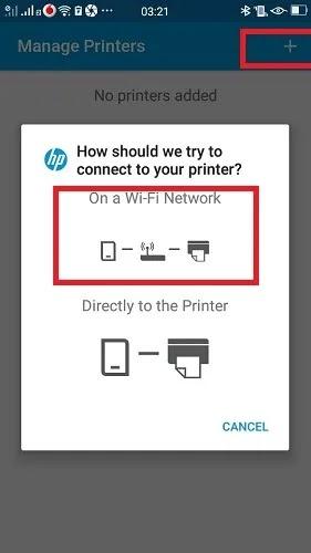 اطبع باستخدام برنامج Android Phone Hp Service Plugin إضافة طابعة شبكة Wi Fi