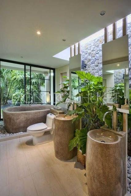 ห้องน้ำแนวธรรมชาติ