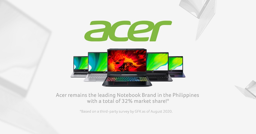Acer is still the number 1 laptop brand in the Philippines