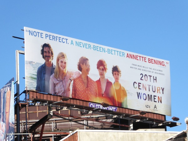 20th Century Women film billboard
