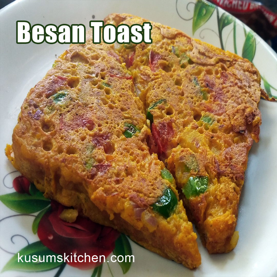 less oil besan bread  toast recipe