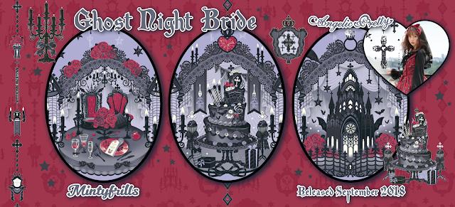 Angelic Pretty, Ghost Night Bride, new release, lolita fashion, print, mintyfrills