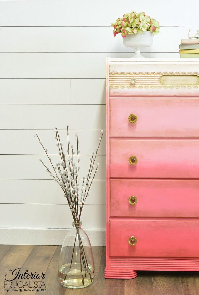Pink Ombre Waterfall Dresser