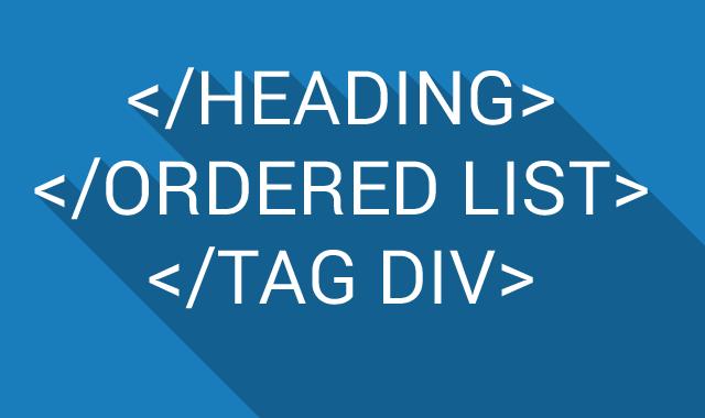 heading+list+div