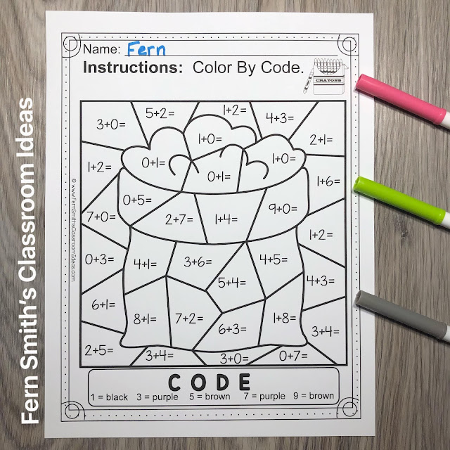 Click Here for this Baa Baa Black Sheep Color By Number Remediation Sums to 10 Worksheets Resource