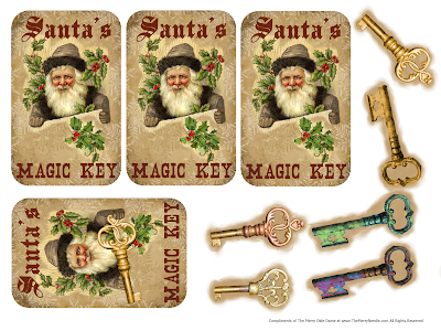free printable santa's magic key www.themerryneedle.com