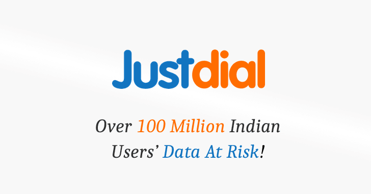 Over 100 Million JustDial Users' Personal Data Found Exposed On the Internet