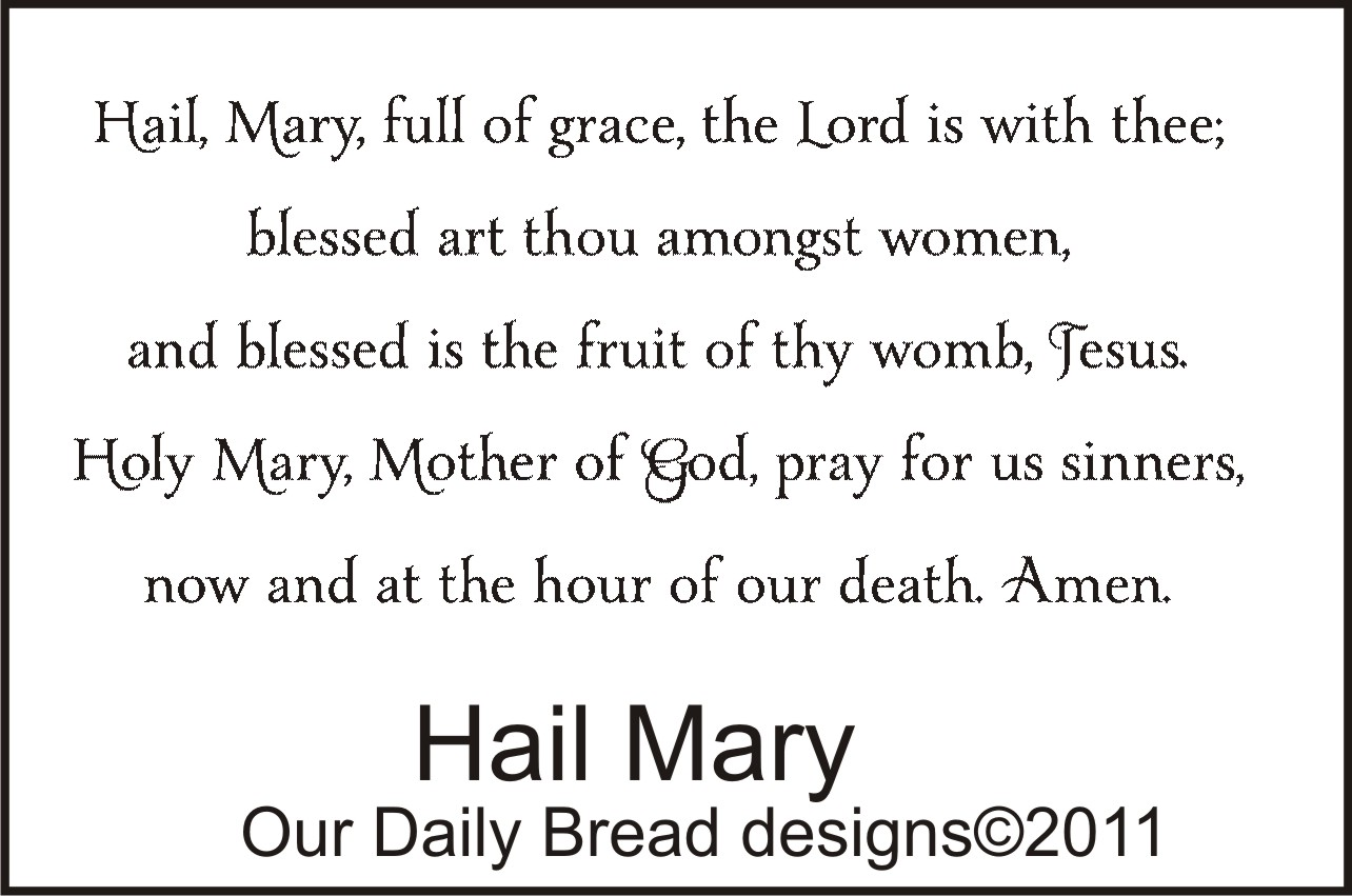 Hail Mary Prayer Printable