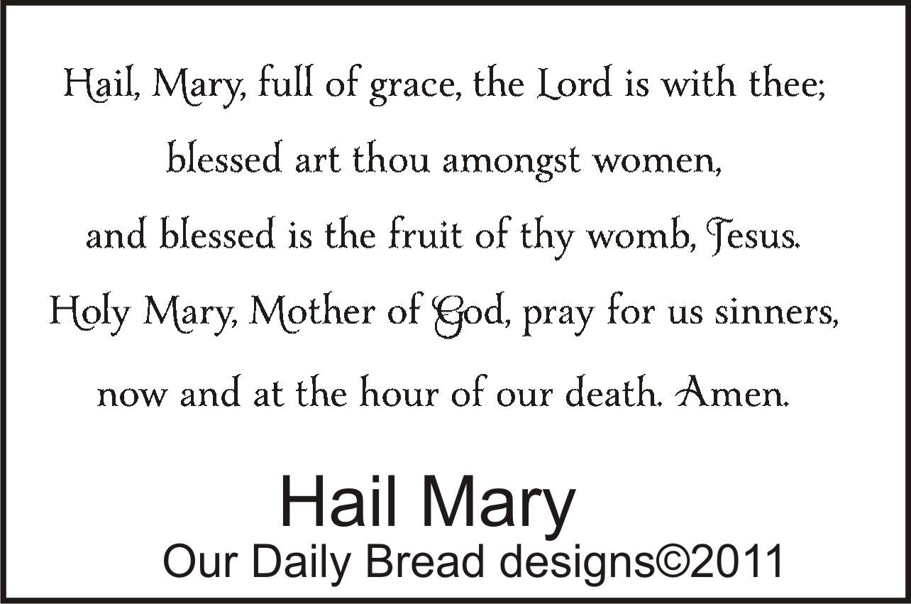 Hail Mary Prayer Printable