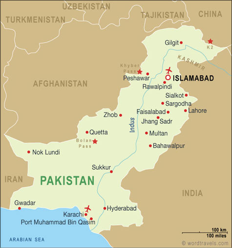 Islamabad Pakistan Map: Pakistan Map