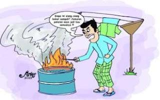 Ilustrasi Bakar Sampah