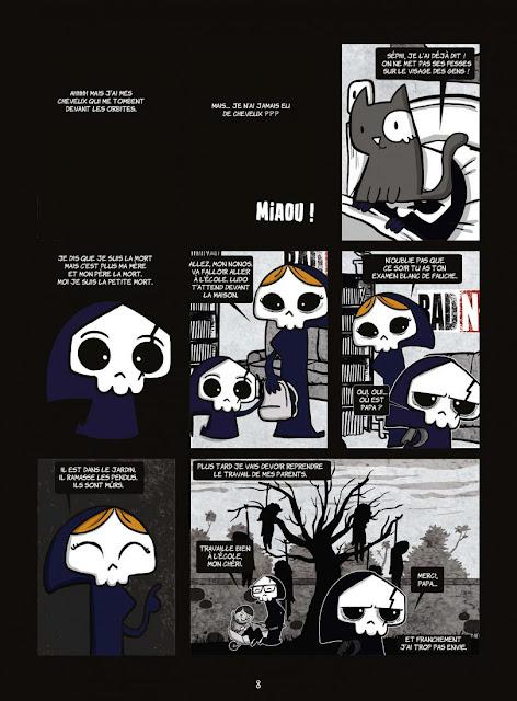 """page de """"La Petite mort T1.5 Une impression de déjà lue"""" par Davy Mourier chez Delcourt"""