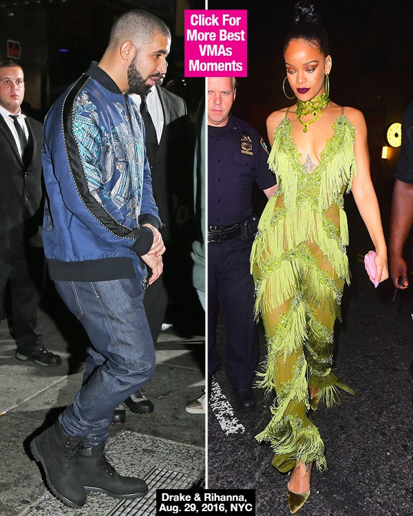 Drake & Rihanna Disappeared Before VMAs After-Party: Hookup After Public Kiss?