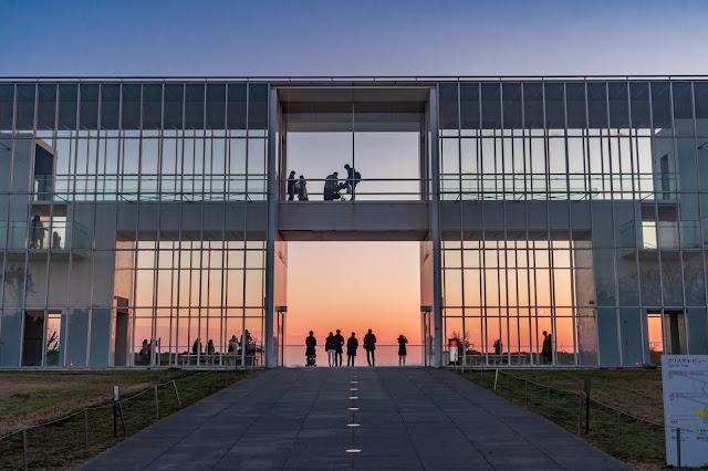 葛西臨海公園,クリスタルビュー,夕焼け,夕焼け